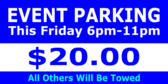 Friday Event Parking