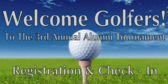 Annual Golf Tournament Check In and Registration