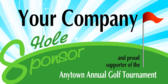 Golf Tournament Hole Sponsor
