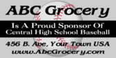 Baseball Sponsored by Grocery Store