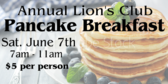 Men's Club Pancake Breakfast