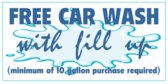 Free Car Wash with Fill Up