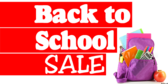Back to School Sale with Ribbon