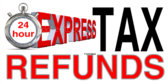 24 Hr Express Tax Refunds White Red