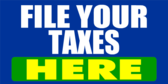 File Your Taxes Here Blue