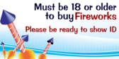 18 Years Old To Buy Fireworks