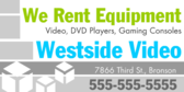 We Rent Equipment