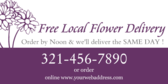 Free Local Flower Delivery