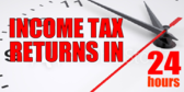 Income Tax Refunds 24 Hours Blue
