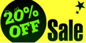 20% Off Sale