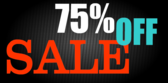 75 Percent Off Sale