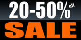 20 to 50 Percent Off Sale Orange