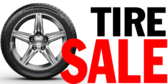 Tire Sale Red Gradient