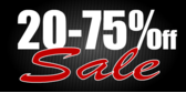 20 to 75 percent off sale White
