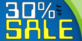 30 percent off Blue White Yellow