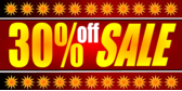 30 Percent Off Sale Red