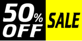 50 Percent Off Yellow