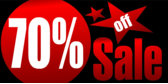 70 percent off sale red