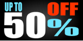 Up to 50 Percent Off Blue