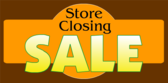 Store Closing Sale Orange