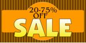 20-75% Off Sale