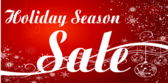 Holiday Season Sale Red