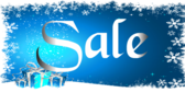Sale Blue Snowflakes