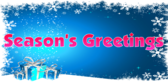 Season's Greetings Pink Type