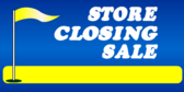 Store Closing Sale Blue Yellow Golf