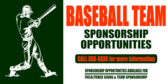 Baseball Team Sponsorship Opportunities