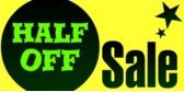 Half Off Sale Yellow Green Star