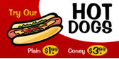 Hot Dogs Red with Clip Art