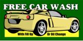 Gas Station Free Car Wash