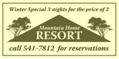 Mountain Resort Package Third Night Free