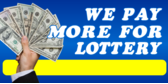 We Pay More For Lottery Blue with Picture