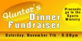 Hunter's Dinner Fundraiser