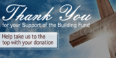 Church Building Fund Thank You