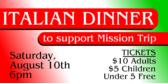 Mission Trip Dinner