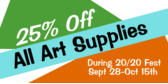 Art Supplies Sale