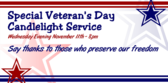 Veteran's Day Candlelight Service