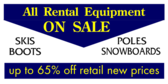 All Ski Rental Equipment On Sale