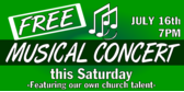 Free Musical Concert