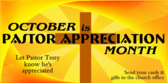 october pastor appreciation month