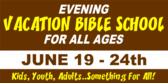 church vacation bible school signs