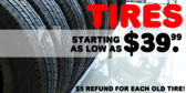 Tire Sale Plus Refund