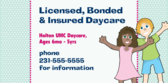 Licensed Bonded and Insured Daycare