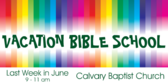 Vacation Bible School Rainbow
