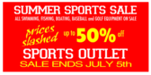 sporting goods signs