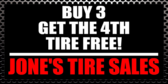 Buy 3 Get the 4th Tire Free