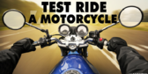 Motorcycle Test Ride